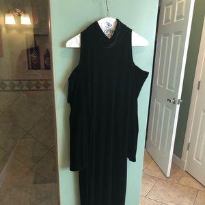 Vintage velvet cold shoulder gown